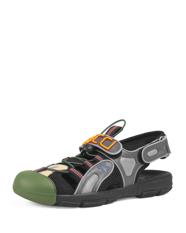 80201e8c5add Gucci men tinsel sneaker sandals neiman marcus jpg 1200x1500 Gucci sandals