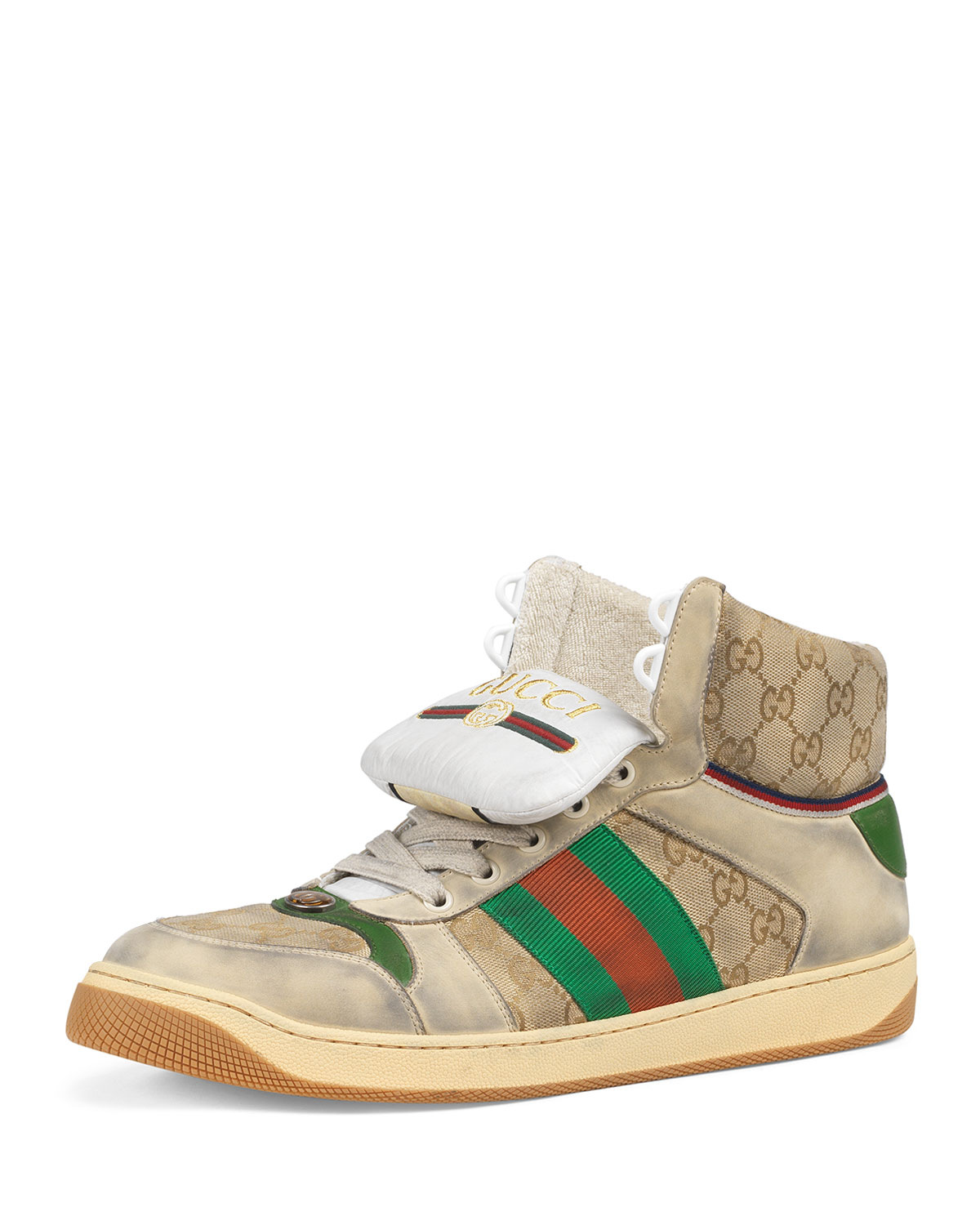 aa41be63487 Gucci Men s Screener High-Top GG Canvas Sneakers