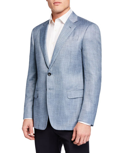 Men's Melange Pattern Sport Jacket