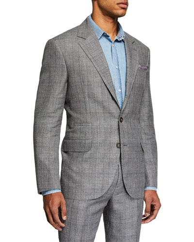 Men's Plaid Two-Piece Suit