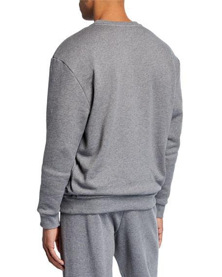 Versace Men's Embroidered Logo Crewneck Sweatshirt