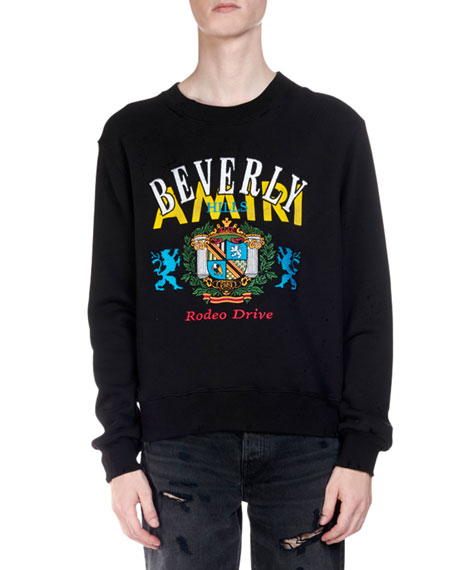 Amiri Men's Beverly Hills Rodeo Drive Graphic Sweatshirt