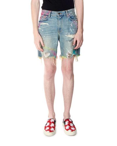 Men's Thrasher Graffiti Paint Shorts