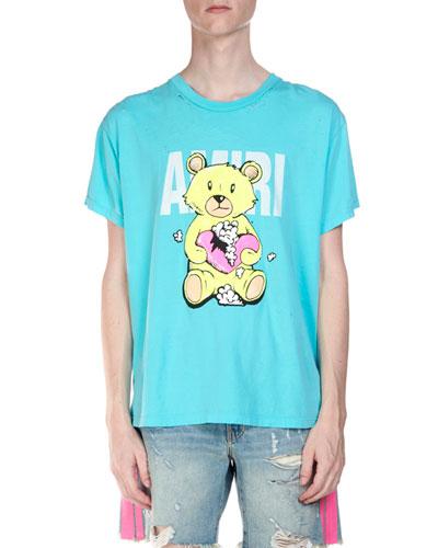 Men's Short-Sleeve Teddy T-Shirt