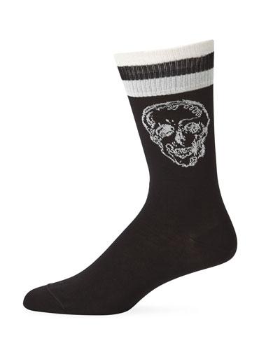 Men's Graffiti Skull Socks