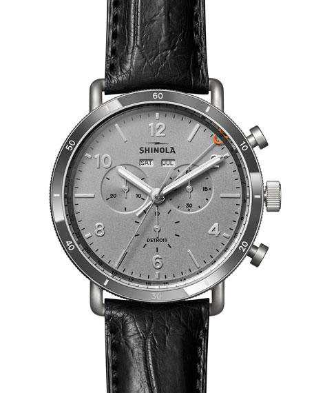 Shinola Watches Men's 45mm Canfield Sport Chrono Watch