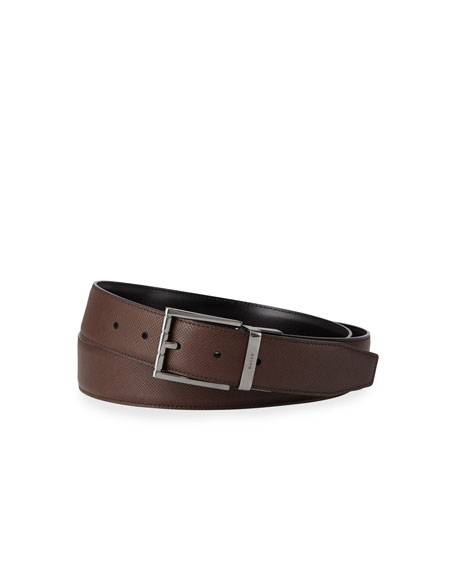 Bally Men's Astor 35mm Leather Belt