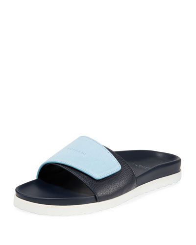 Men's Scratch Leather Slide Sandals