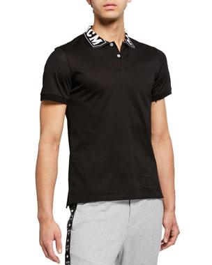 new product c179c f7a08 MCM Mens Logo-Trim Polo Shirt