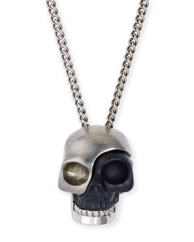 Men's Divided Skull Pendant