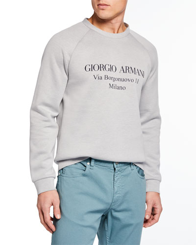 Men's Long-Sleeve Borgonuovo Sweater