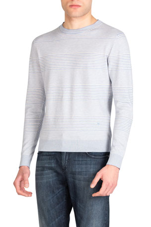 Rising On Fashion Mens Comfy Long Sleeve Soft Print Slim Fit Pullover Sweaters