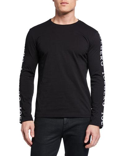 Men's Logo-Trim Long-Sleeve T-Shirt