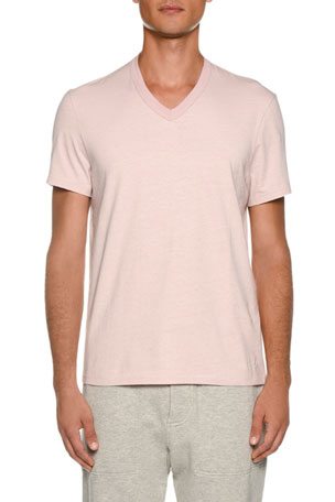 TOM FORD Men's Short-Sleeve V-Neck T-Shirt, Pink