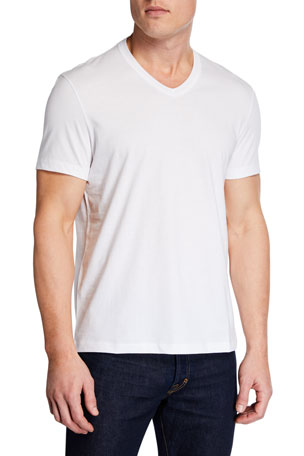 TOM FORD Men's Short-Sleeve V-Neck T-Shirt, White