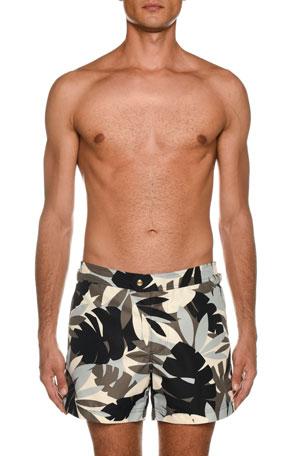 TOM FORD Men's Tropical Graphic Swim Trunks