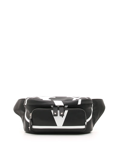 Men's VL Logo Leather Belt Bag