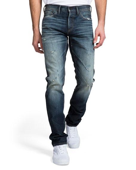 Prps Jeans MEN'S DARK WASH WHISKER AND ABRASION DENIM JEANS