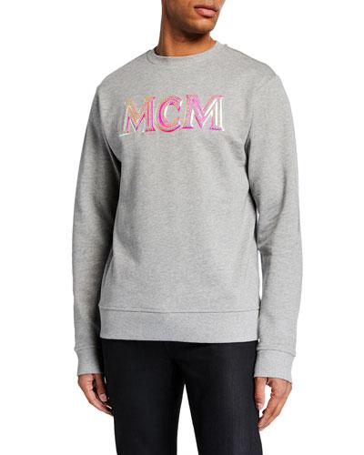 Men's Sparkling Neon Logo Sweatshirt