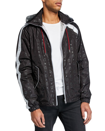 Men's Reversible Bomber Jacket w/ Packing Pouch