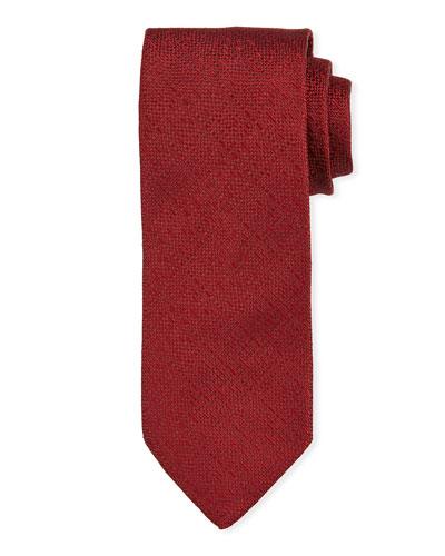 Solid Silk Tie  Red