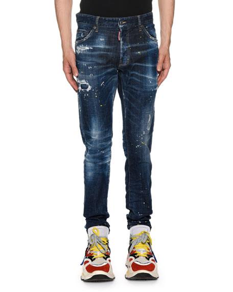Dsquared2 Men's Cool Guy Paint-Spots Jeans