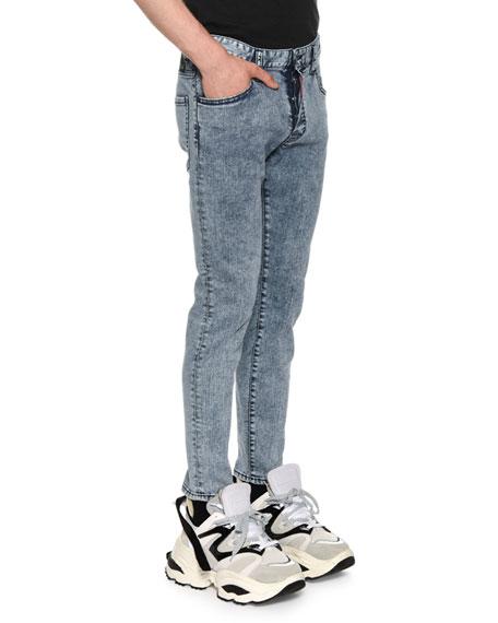 Men's Acid Wash Skater Slim Straight-Leg Jeans