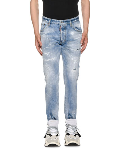 Men's Light Piranha Wash Cig Denim Jeans