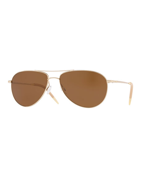 Oliver Peoples Men's Benedict 59 Aviator Sunglasses -