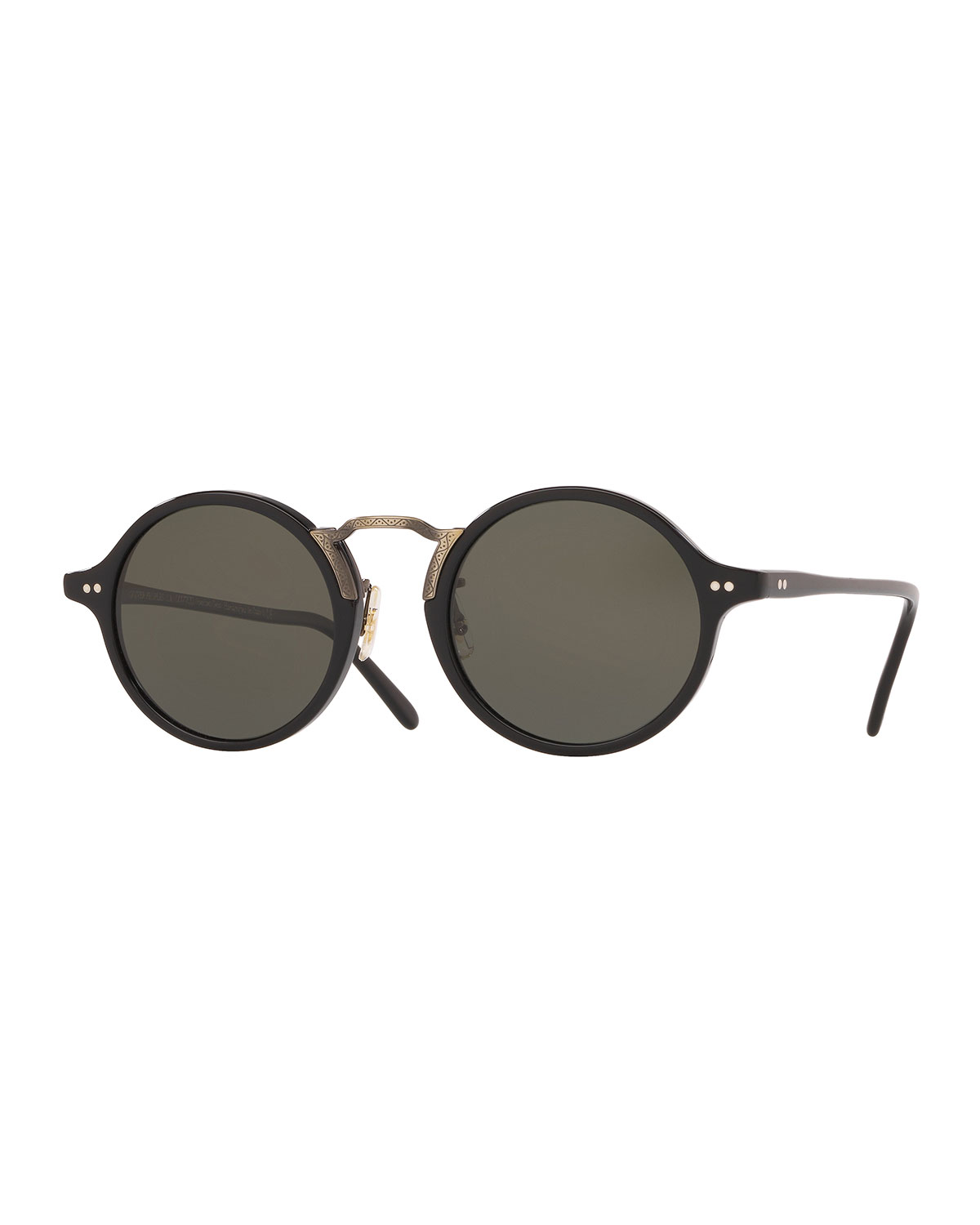 a6e7a37533 Oliver Peoples Men s Kosa 48 Round Sunglasses - Polarized