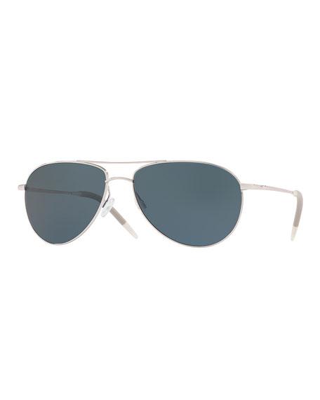 Oliver Peoples Sunglasses MEN'S BENEDICT 59 AVIATOR SUNGLASSES - POLARIZED LENSES