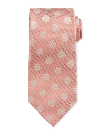 Polka-Dot Silk Tie