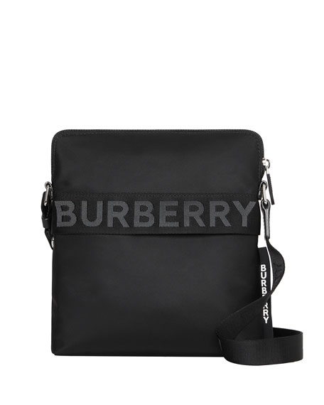 3b58f9a6ba95 Burberry Men s Neo-Nylon Logo-Web Crossbody Bag In Black