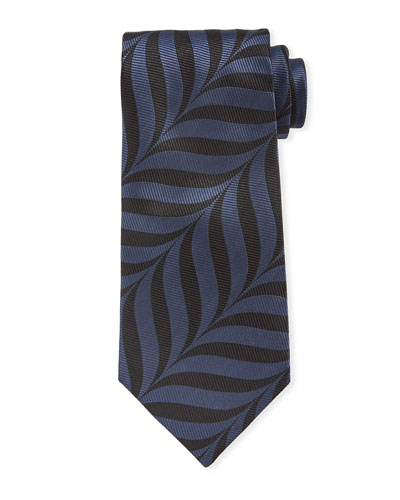 Abstract-Print 9cm Tie  Blue