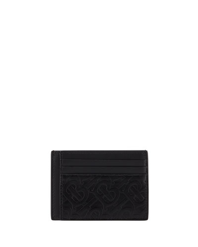 Men's Bernie TB Monogram Card Case
