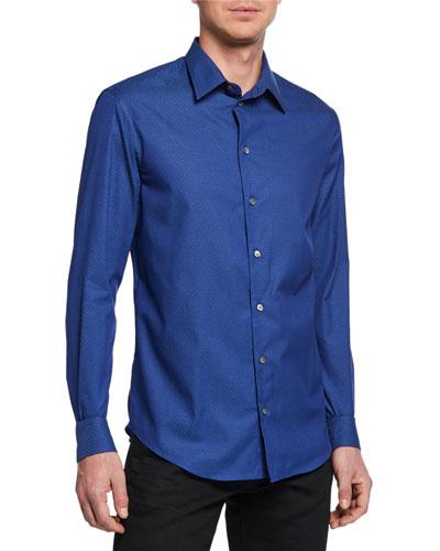Men's Pindot Sport Shirt