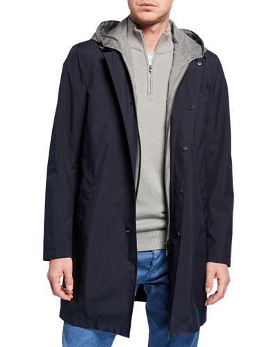Men's Urban Sebring Reefton Snap-Front Rain Coat