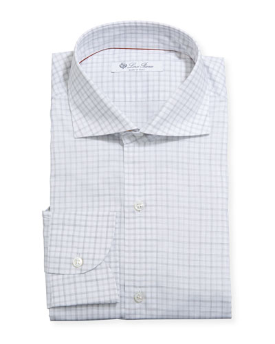 Men's Washed Plaid Dress Shirt