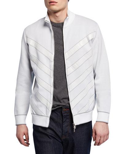 Men's Crocodile Blouson Jacket