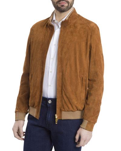 Men's Suede Blouson Jacket