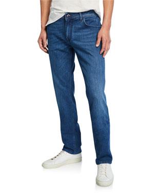 d5686c6505d Stefano Ricci Men s Embroidered Five-Pocket Jeans