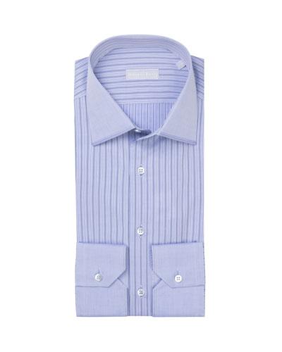 Men's Pattern-Striped Dress Shirt
