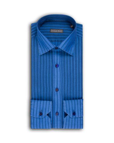 Men's Thick-Striped Dress Shirt