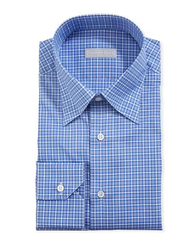 Men's Small-Check Dress Shirt