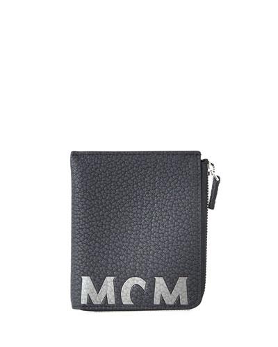 Men's Big Logo Leather Zip Wallet