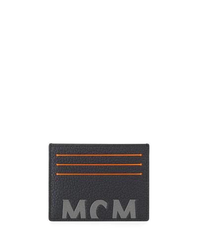 Men's Big Logo Leather Card Case