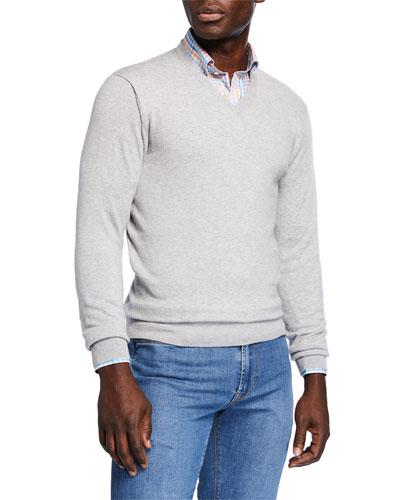 Men's Crown Soft V-Neck Sweater