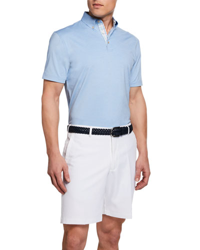 Men's Solid Jersey Polo Shirt