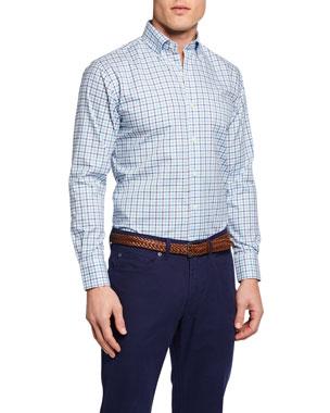 732821153d2e Peter Millar Men s Caldero Tattersall Sport Shirt