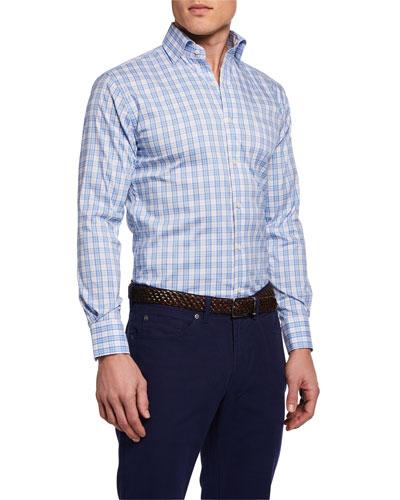 Men's Long-Sleeve Portofino Tartan Sport Shirt